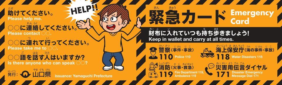 画像:緊急カード