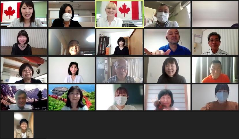 画像:外国文化講座(カナダ)オンラインを実施しました♪